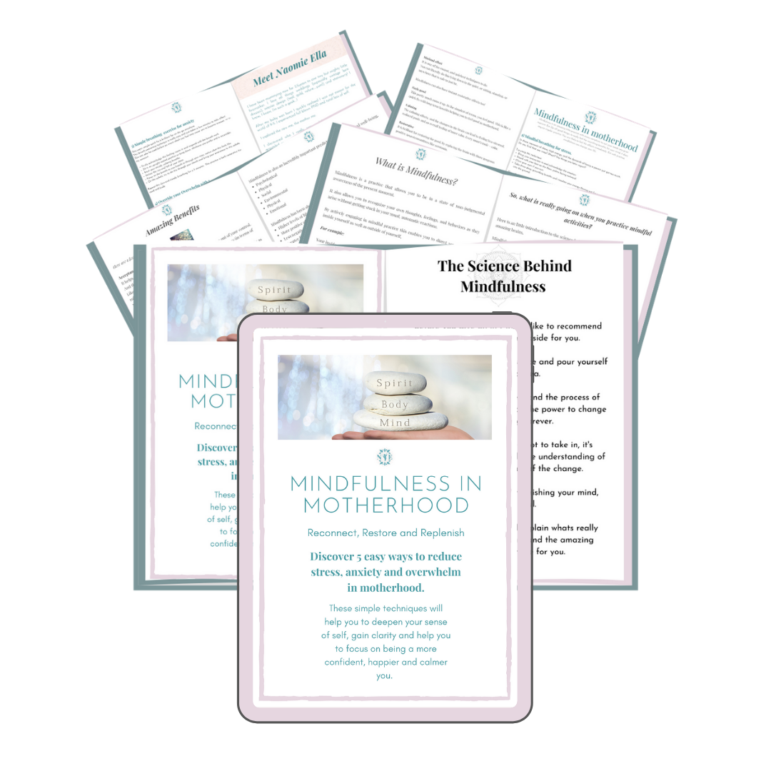 Mindfulness in Motherhood sales page